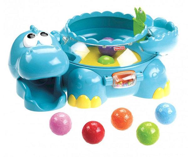 Музикална играчка Динозавър с подскачащи топчета